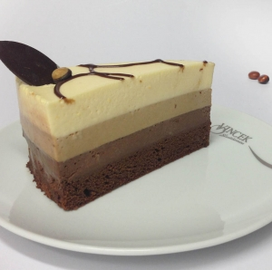 Vincek Chocolate Trio mousse cake